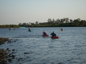 Full Moon Tour by Kayak Lake Worth
